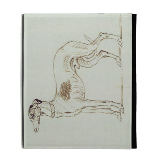 A Greyhound, Facing Left (pen & ink on paper) iPad Folio Case