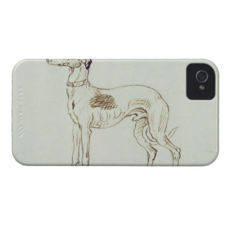 A Greyhound, Facing Left (pen & ink on paper) Case-Mate iPhone 4 Case