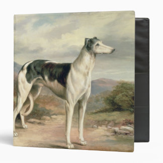 A Greyhound in a hilly landscape 3 Ring Binders