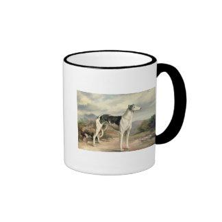 A Greyhound in a hilly landscape Coffee Mug