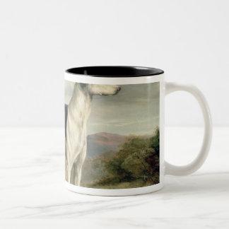 A Greyhound in a hilly landscape Mug