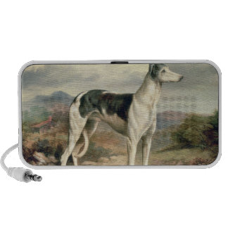 A Greyhound in a hilly landscape Portable Speakers