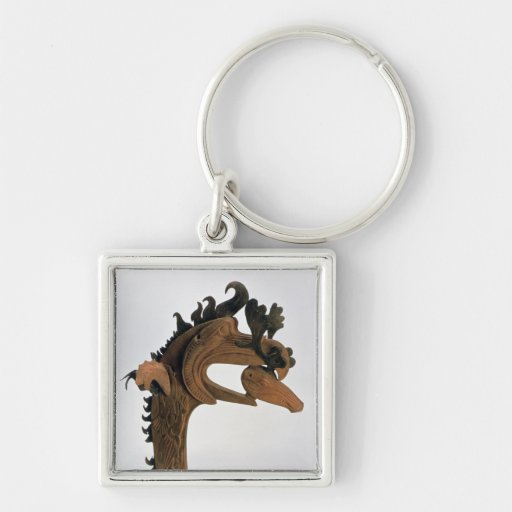 A griffin holding a deer in its beak keychain
