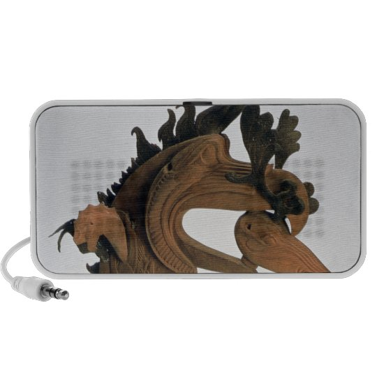 A griffin holding a deer in its beak portable speaker
