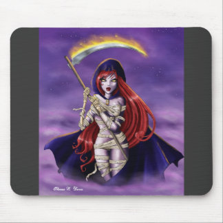 A Grim Girl Mouse Pad