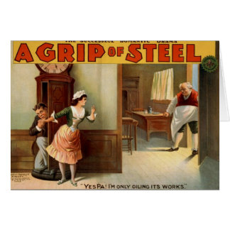 A Grip of Steel Greeting Cards