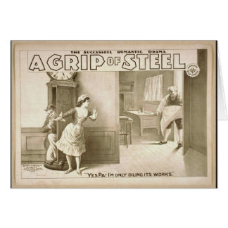 A Grip of Steel Greeting Card