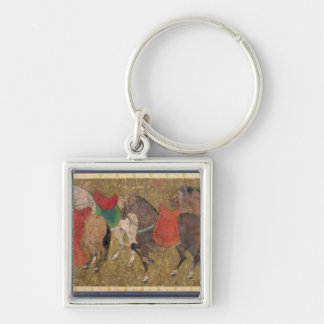 A Groom with Horses Keychain