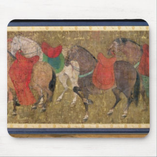A Groom with Horses Mouse Pads