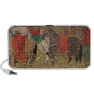 A Groom with Horses Notebook Speakers