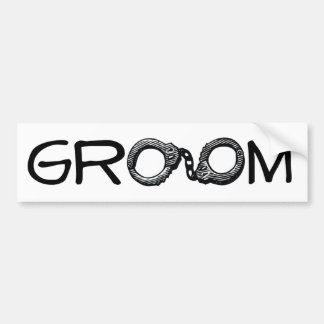 A Groom's Life Sentence Car Bumper Sticker
