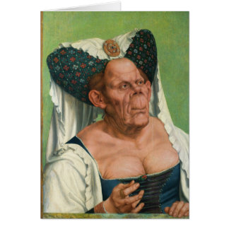 A Grotesque Old Woman by Quinten Massys Card