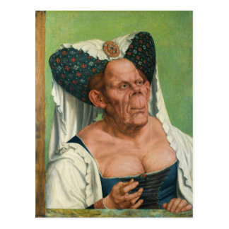 A Grotesque Old Woman by Quinten Massys Postcard