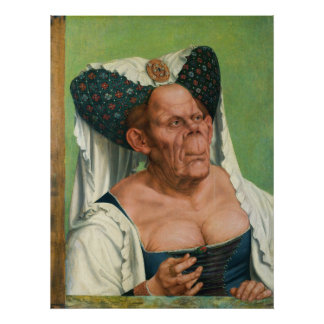 A Grotesque Old Woman by Quinten Massys Poster