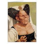 A Grotesque Old Woman, possibly Princess Margaret Card