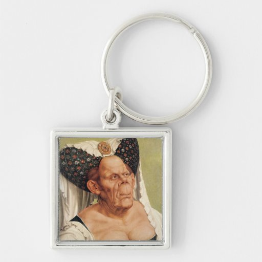 A Grotesque Old Woman, possibly Princess Margaret Keychain