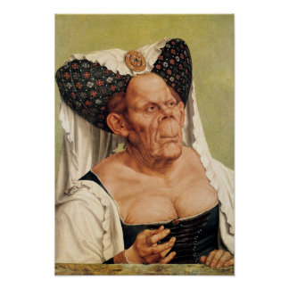 A Grotesque Old Woman, possibly Princess Margaret Poster