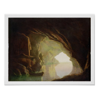 A Grotto in the Gulf of Salerno, Sunset, c.1780-1 Poster