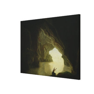 A Grotto in the Gulf of Salernum Canvas Print