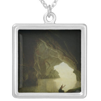 A Grotto in the Gulf of Salernum Silver Plated Necklace