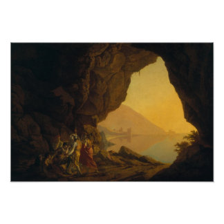 A Grotto in the Kingdom of Naples Poster