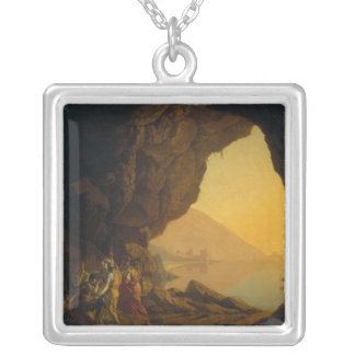 A Grotto in the Kingdom of Naples Silver Plated Necklace