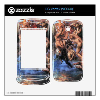 A group fighting Damned by Michelangelo Decal For LG Vortex