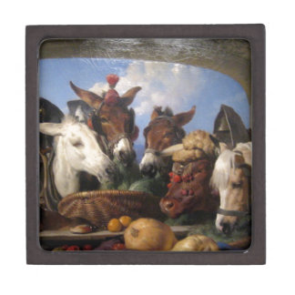 A Group of Animals, Geneva by Edwin Henry Landseer Premium Gift Box