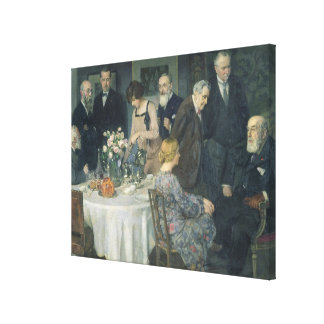 A Group of Artists, 1929 Canvas Print