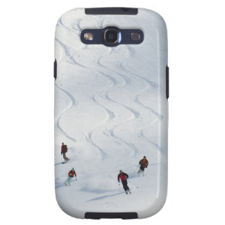 A group of backcountry skiers follow their guide galaxy s3 cases