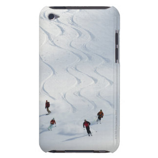 A group of backcountry skiers follow their guide iPod touch cover
