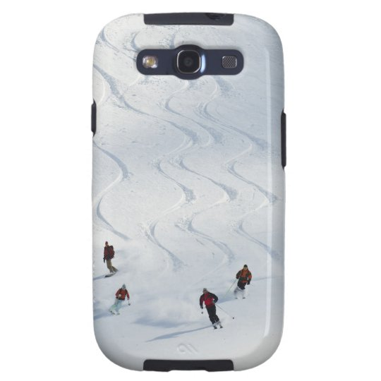 A group of backcountry skiers follow their guide samsung galaxy s3 cover