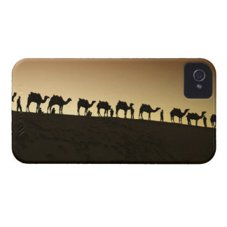 A group of camel herders with their camels at iPhone 4 case