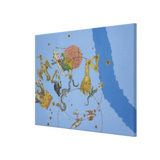 A group of constellations from 'Uranometria' by Jo Canvas Print