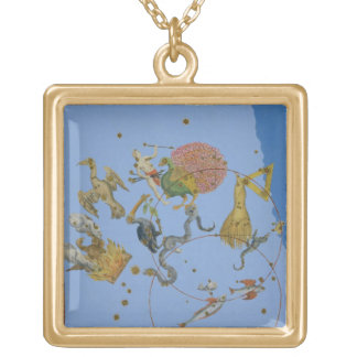 A group of constellations from 'Uranometria' by Jo Gold Plated Necklace