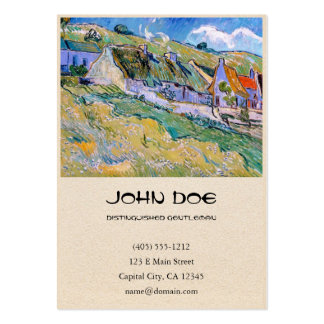 A Group of Cottages by Vincent Van Gogh painting Business Card Templates