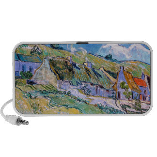 A Group of Cottages by Vincent Van Gogh painting Notebook Speakers
