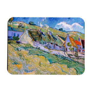 A Group of Cottages by Vincent Van Gogh painting Rectangular Photo Magnet