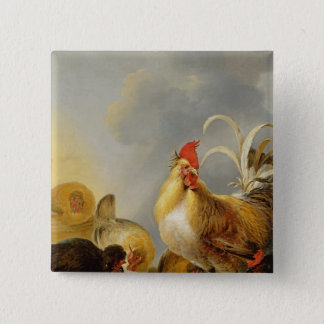 A Group of Farmyard Fowl, 1643 Pinback Button