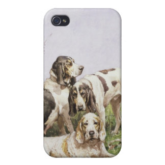 A Group of French Hounds iPhone 4/4S Cover