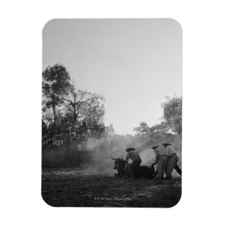 A group of Mexican charros bullfighters twist Rectangular Magnet