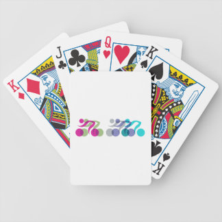 A group of riders bicycle playing cards