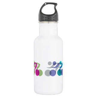 A group of riders 18oz water bottle