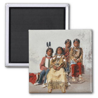A group of  Ute Children 1899 Refrigerator Magnets