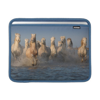 A Group Of White Horses In The Camargue Region Sleeves For MacBook Air