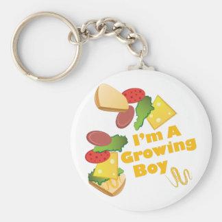 A Growing Boy Basic Round Button Keychain