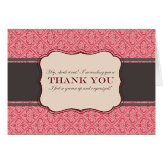 A Grown Up Thank You Greeting Cards