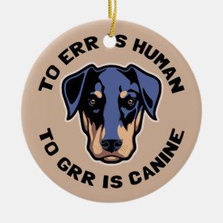 A Grr es canino Adorno Navideño Redondo De Cerámica