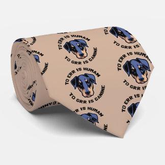 A Grr es canino Corbata Personalizada