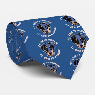 A Grr es canino Corbatas Personalizadas